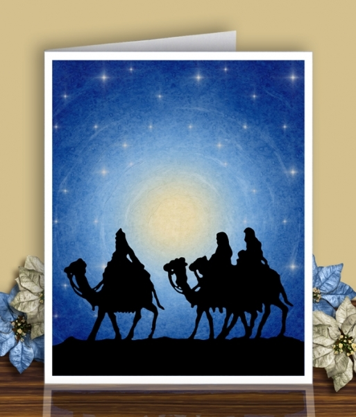 Printable Silent Night Wise Men as a Card