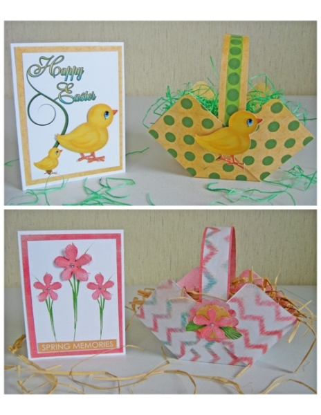 Printable Easter and Spring Basket and Card Sets