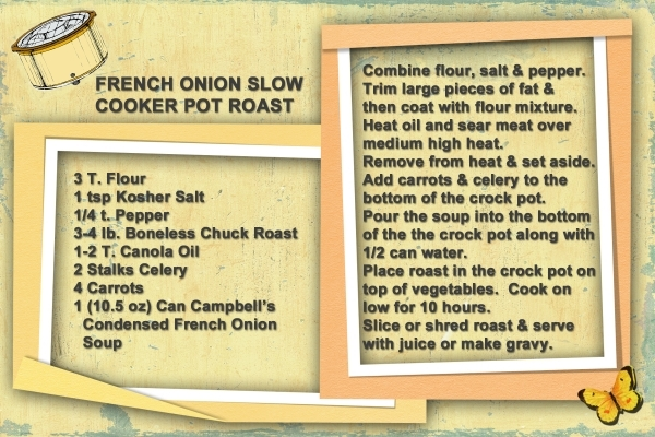 French Onion Slow Cooker Pot Roast