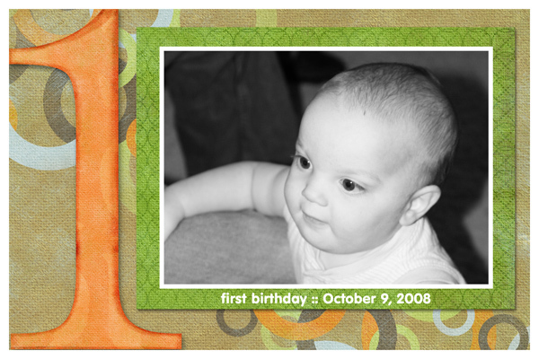 First Birthday 4x6