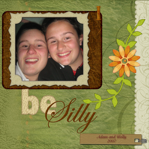 Be silly (left page)