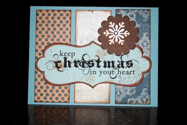 Keep christmas in your heart greeting cards scrap