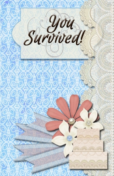 A congratulations-you-survived-your-daughters-wedding card for a coworker