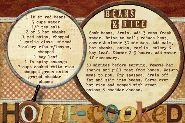 one-dish meals: Beans & Rice