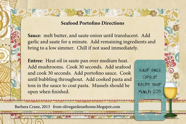 Directions for Olive Garden Seafood Portofino, part 2