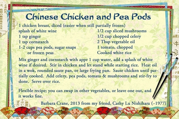 Chinese Chicken with Pea Pods