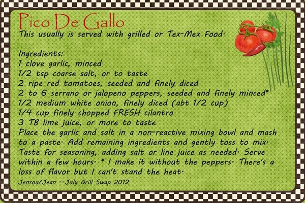 Jenrou_Pico De Gallo-July Recipe Swap