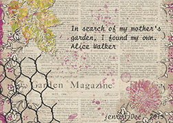 Dec ATC Words And Flowerspost