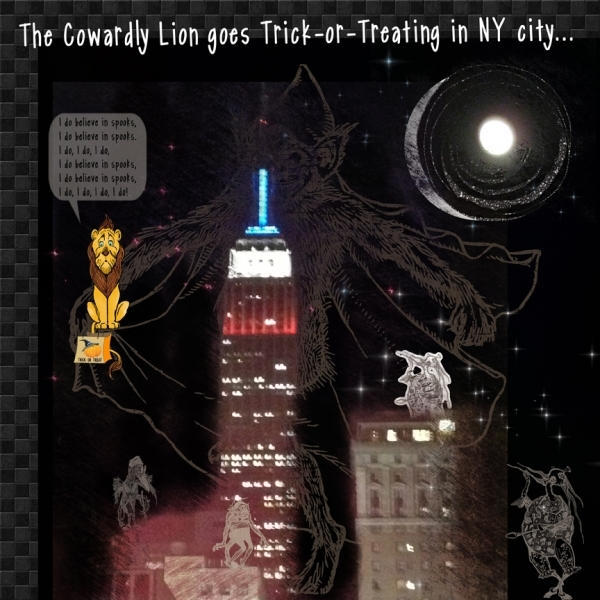 "Monday Challenge - Guy Fawkes: ""The Cowardly Lion Goes Trick-or-Treating in NYC"