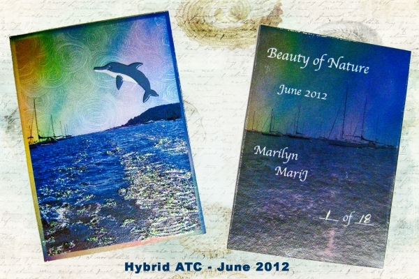 June 2012 Hybrid ATC:  Beauty of Nature.