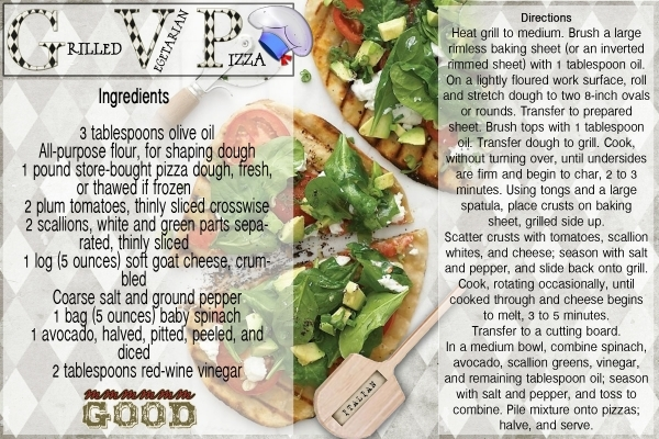 Vegetarian Grilled Pizza