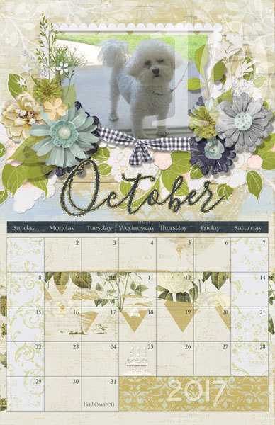 12/1/16 Fast & Fun 2017 Calendar Tutorial - October