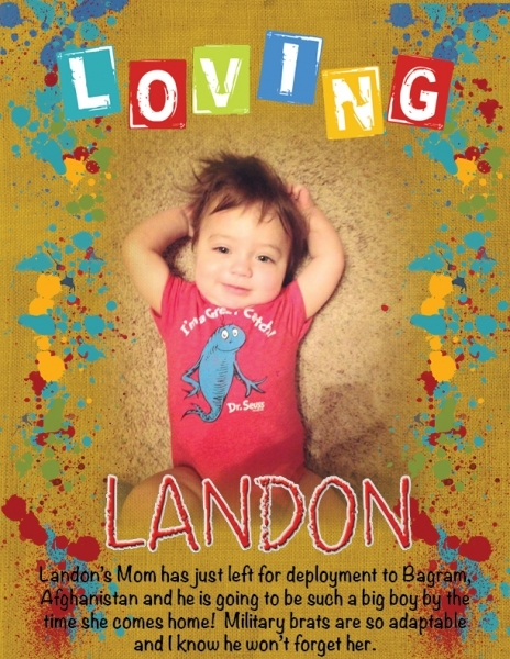 Our sweet little military brat, Landon
