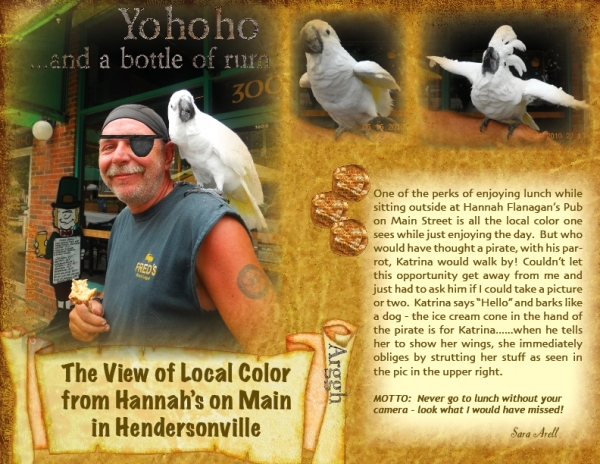 Little local color from Main Street Hendersonville
