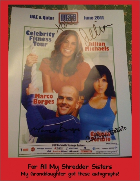 Autographed Poster for my Shredder Sisters
