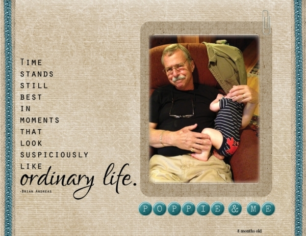 Project Life 2013 - Poppie and Me
