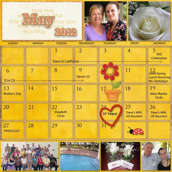 Project SG Challenge 2012, May calendar