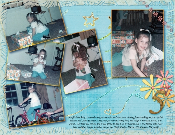 My fifth birthday, 2nd page