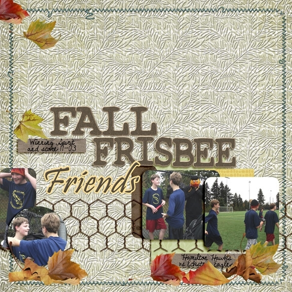 Fall Frisbee Friends(Speedscrap)
