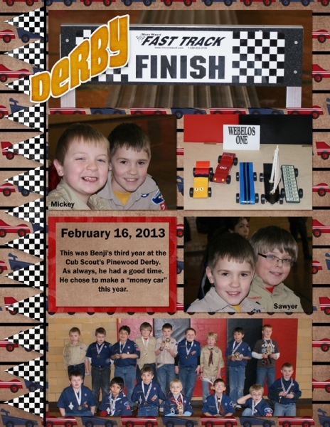 Project Life 2013 Pinewood Derby left