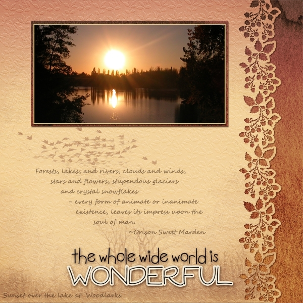 The Whole Wide World is Wonderful