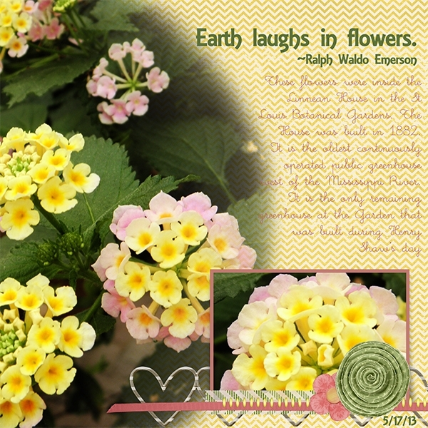 Tuesday Freebie Challenge 8/27. Laughs in Flowers.