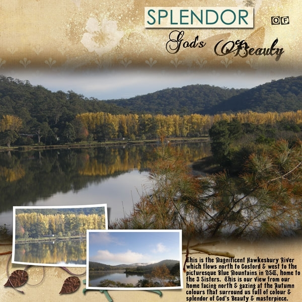 Tuesday Freebie - Splendor of God's Beauty