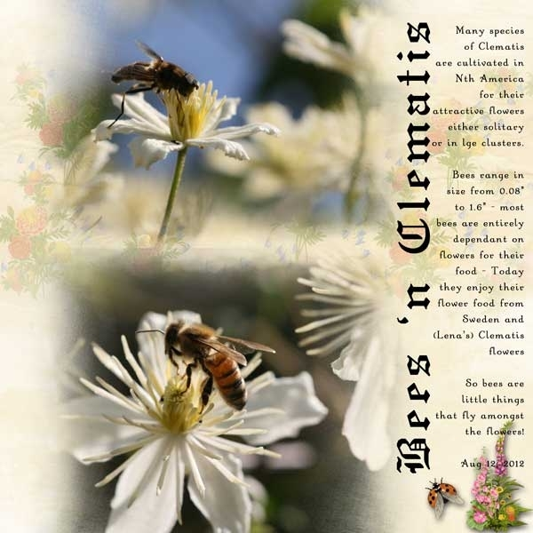 Nov Swap for Lena ~ Bees 'n Clematis