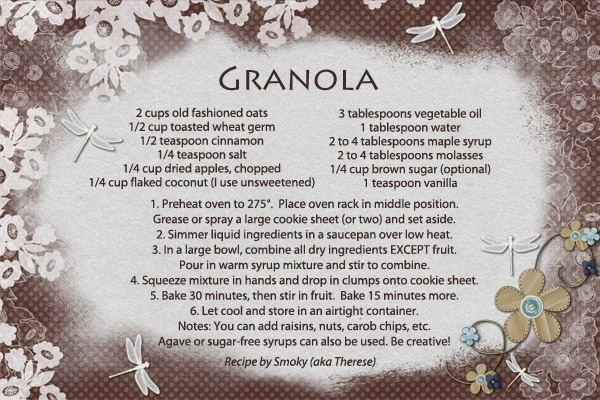 Healthy Recipe Swap, Feb12 - Granola