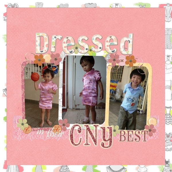 Dressed in their CNY Best