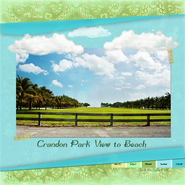 Nov 10 - Sat Color - Crandon Park View to Beach