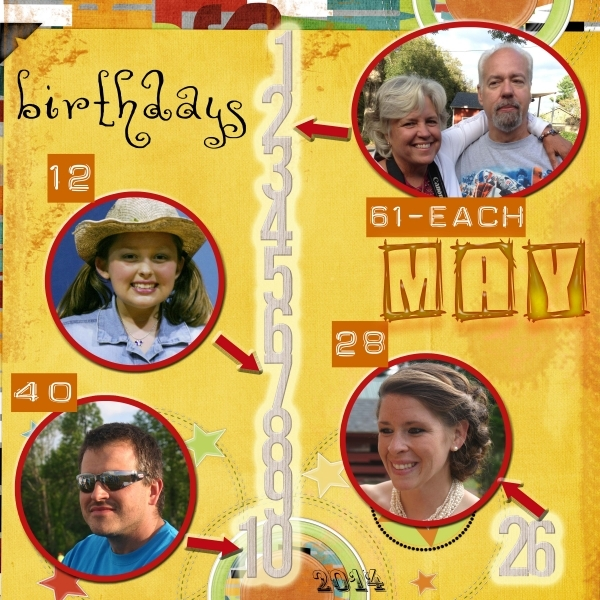 Tuesday Freebie Challenge--- Our May birthdays