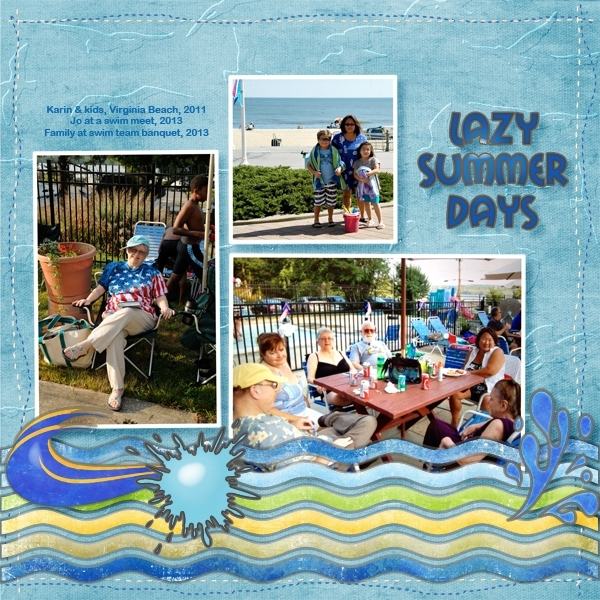 Lazy Summer Days - July Speed Scrap