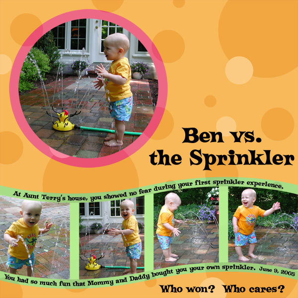 Ben vs. the Sprinkler