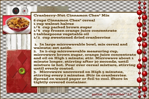 Cranberry-Nut Cinnamon Chex Mix