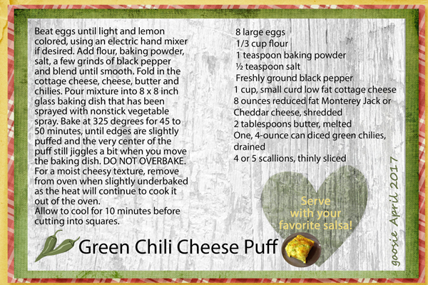 Green Chili Cheese Puff