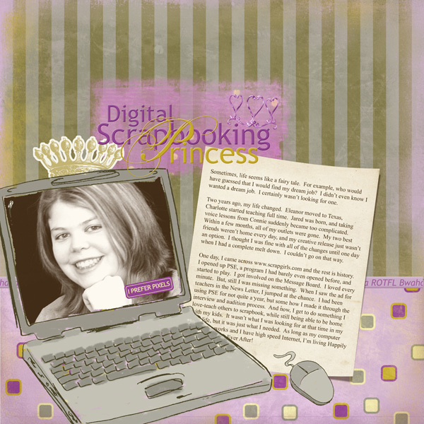Digital Scrapbooking Princess
