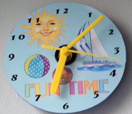 Completed Seaside CD Clock