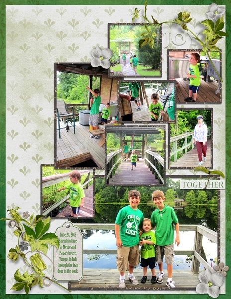 Project Life 2013 June - Meme and Papa's Dock