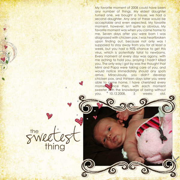 The Sweetest Thing 2008 Jan Layout contest