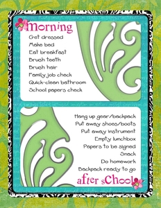 Morning & After School Routine for K