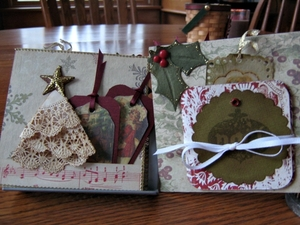 Vintage Christmas Mini Album Page post 1