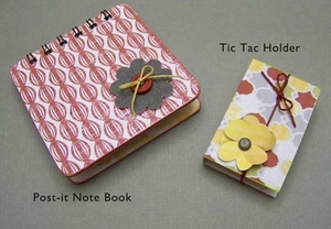 Post It Note Holder and Tic Tac Holder