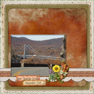 Bear Mountain Bridge -- Tuesday 11-11-14 SG Blog Sketch
