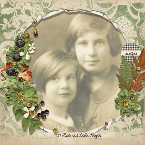 1929 alice And leila portrait 600web