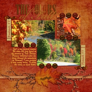 October slow scrap LO Week 1