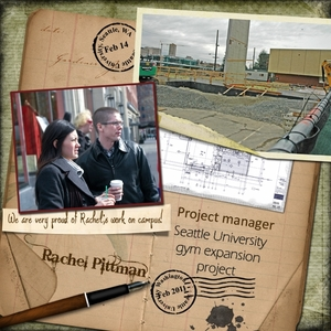 Rachel as Project Manager of gym