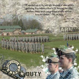 OB graduated from Infantry School