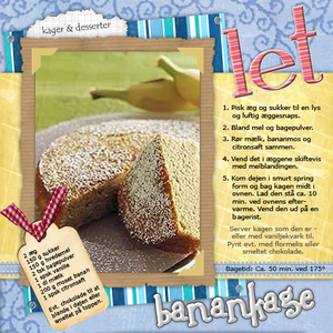 """Light Banana Cake Recipe"""