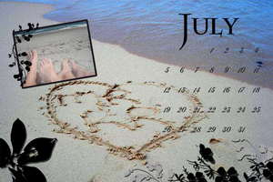 Frilly Calendar Page